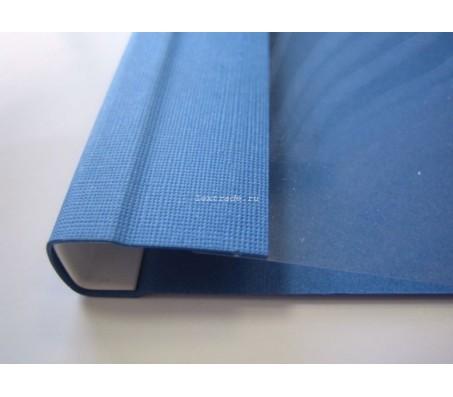 C-Bind Мягкие обложки А4 Softclear C 16 мм синие текстура лен