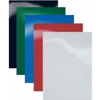 Обложки A4 картон, гянец, синие 250 гр/м2
