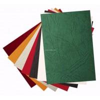 Обложки A4 картон, кожа, зеленые 230 гр/м2