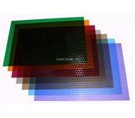 Обложки прозрачные пластиковые A4 0,18 мм, Кубик, вишневые