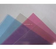 Обложки прозрачные пластиковые A4 0,3 мм, рифленые, розовые