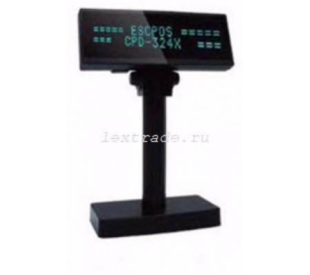 Дисплей покупателя Salepos CPD-324X USB/RS232 черный