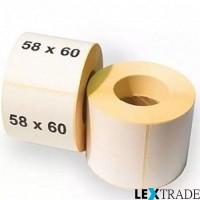 Термоэтикетки ТОП размером 58х60 мм белого цвета