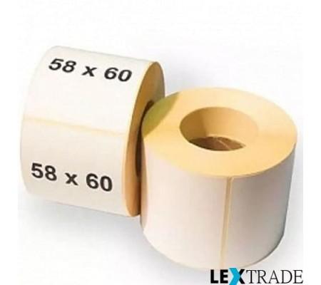 Термоэтикетки ЭКО 58х60 мм белого цвета