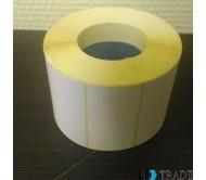 Термоэтикетки  размером 60х80 мм белого цвета