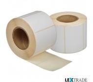 Термоэтикетки ТОП размером 58х40 мм белого цвета