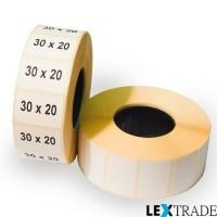 Термоэтикетки ЭКО 30х20 мм белого цвета
