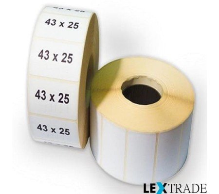 Термоэтикетки ЭКО 43х25 мм белого цвета