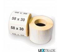 Термоэтикетки ЭКО 58х30 мм белого цвета