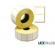 Термотрансферные этикетки 100х124 мм белого цвета