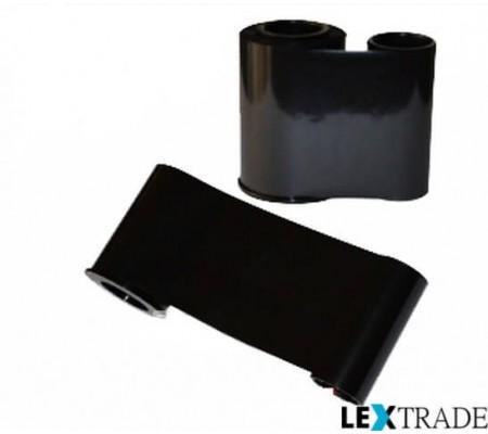 Монохромная красящая лента чёрного цвета