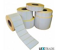 Термотрансферные этикетки 100х100 мм белого цвета