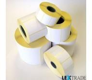 Термотрансферные этикетки 100х82 мм белого цвета