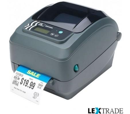 Принтер этикеток Zebra GX 420 T (203 dpi, ширина 102 мм, 127 мм/сек, RS232, USB, WiFi, LCD)