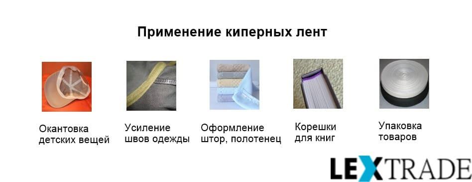 Сферы применения киперных лент