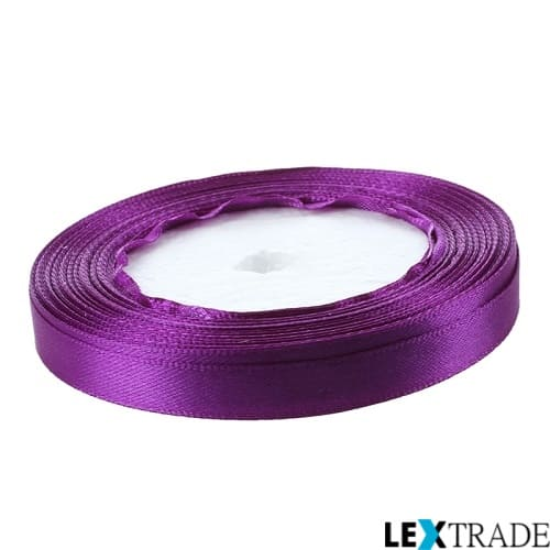 Сатиновая лента пурпурная