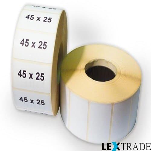Термоэтикетки 45х25 мм