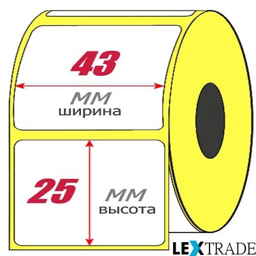 Термоэтикетки ЭКО 43х25 мм