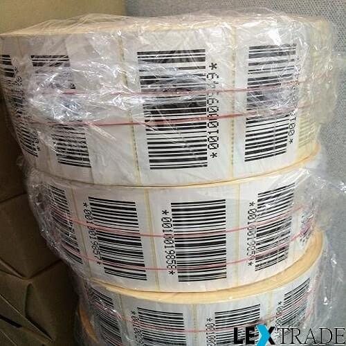 Термотрансферные этикетки 58х30 мм белого цвета купить с доставкой