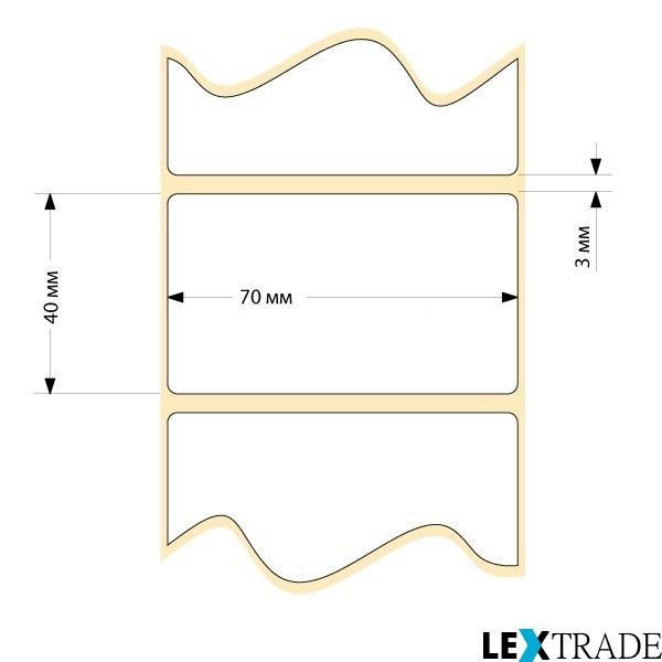 Термотрансферные этикетки 70х40 мм